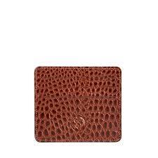 croc leather wallet crocodile card wallet