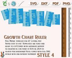 Growth Chart Stencil Designs Growth Chart Ruler Stencil File Metric Imperial Svg Dxf Pdf Diy Growth Chart Ruler Sign Growth Chart Ruler Wall Decal Svg