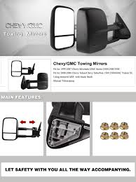 Amazon.com: Chevy Tow Mirrors for 99-06 Chevy Silverado GMC Sierra ...