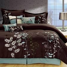 bedroom comforter sets queen brown