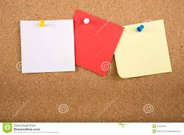 Memo Card Template Sticky Note Memo Card On Board Stock Illustration Illustration Of