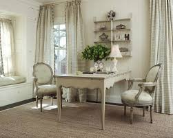french country office. cottage chic freestanding desk carpeted home office photo in seattle with white walls french country