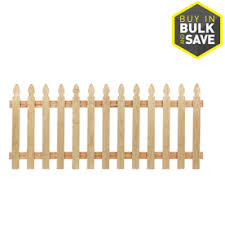 wood picket fence panels. Severe Weather (Actual: 3.5-ft X 8-ft) Pressure Treated Pine Wood Picket Fence Panels D