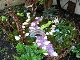 fairy garden a stream running through it