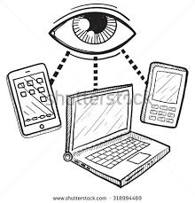 stock vector hand drawn vector sketch of big brother s eye watching computers mobile devices and phones to 318994469 hand drawn vector sketch big brothers stock vector 318994469 on mobile device management policy template