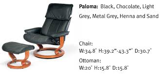 stressless admiral classic large base paloma sand leather recliner chair and ottoman by ekornes