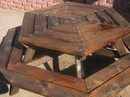 impressive how to build a round picnic table round designs regarding round wood picnic table ordinary