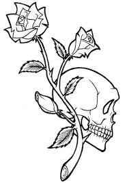 Small Picture Rose and Skull Tattoo coloring page Free Printable Coloring Pages