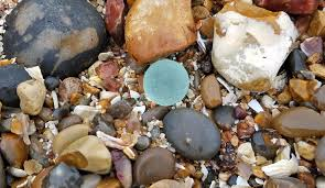 sea glass marble found at minster on sea isle of sheppey