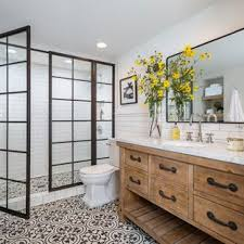 traditional master bathroom designs. Double Shower - Large Traditional Master White Tile And Subway Ceramic Floor Multicolored Bathroom Designs E