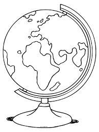 Kleurplaat Wereldbol Aardbol Atlas Kleurplatennl
