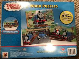 thomas friends 3 wooden puzzles in wood storage box new unopened