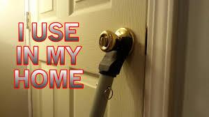 Door stopper security bar Door Knob Feel Safe At Home Door Stopper Security Bar Doorknob Brace Youtube Feel Safe At Home Door Stopper Security Bar Doorknob Brace Youtube
