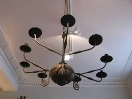 20th cent wrought iron spanish chandelier