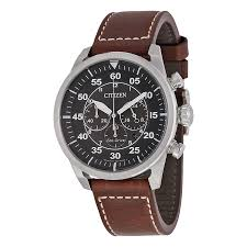 citizen avion chronograph black dial men s watch ca4210 24e