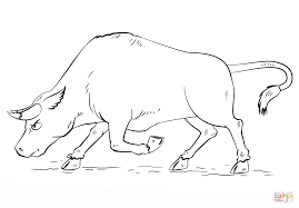 Small Picture Cartoon Bull coloring page Free Printable Coloring Pages