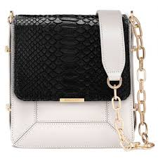 aleksandra badura candy bag python calfskin shoulder bag black white luxury high quality leather bag avvenice