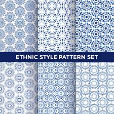 Free Vector | <b>Ethnic style</b> pattern set