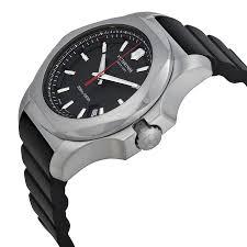 victorinox swiss army inox black dial black rubber mens watch item specifics
