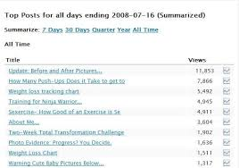 Sexercise Chart Top Posts Referals Clicks And Search Terms