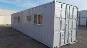 Shipping containers office Vintage 8 40 Ground Level Office Container Homedit New Used Inventory For Sale Office Container A1 Portables