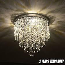 new elegant chandelier crystal light ceiling flush mount lamp modern fixture ejg