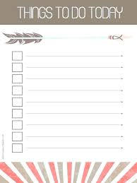 Cute Lists Free Printable To Do List Template Best S Of Cute Lists