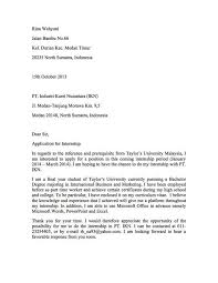 Internship Cover Letter Malaysia Ideas Of Cover Letter Example