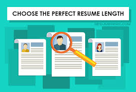 Resume Length Unique Perfect Length Of Your Resume Resumeperk