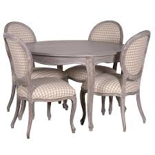 set image of belfort dining table with upholstered chairs