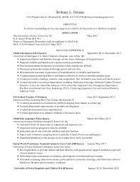 Resume Examples For Kids Best of Cali Wronkiewicz Child Life Resume Examples 24 Ifest