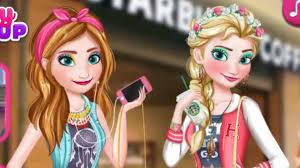 frozen elsa and anna modern sisters makeup game games for