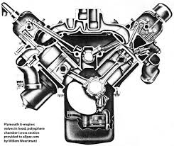 a series chrysler small block v engines  a engine cross section