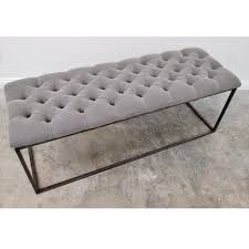 tufted dining bench with back cool button tufted bench in beige colour along with fabric material top plus black metal bench