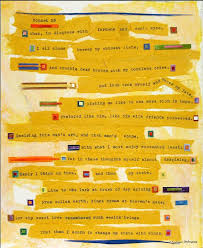 shakespeare sonnet ar t mixed media collage x yellow  shakespeare sonnet 29 ar t mixed media collage 8x10 yellow abstract love poem sonnet xxvi wedding honey goldenrod gift ideas