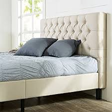 tufted bed. Zinus Upholstered Modern Classic Tufted Platform Bed, Queen Bed