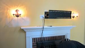 smlf front fireplace living room small ideas hiding tv wires above brick