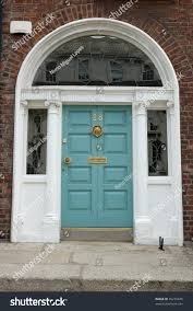 Light Blue Front Door Light Blue Front Door Classic Style Stock Photo Edit Now