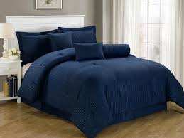 navy blue queen comforter. Contemporary Blue Get Quotations  Chezmoi Collection 7Piece Dobby Stripe Comforter Set  Queen Navy Blue For Queen