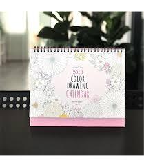 2018 color drawing calendar desk desktop flip stand planner