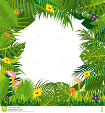 jungle background vector. Simple Vector Jungle Vector Background With Palm Tree Leaves With Background Vector