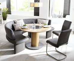 round dining table with bench curved for set next