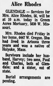 Alice Rhodes Obituary - Newspapers.com