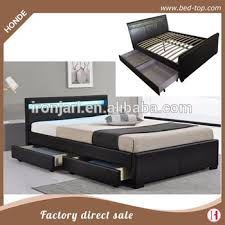 bed designs. Latest Double Bed Designs Led Leather Storage Wood Box With Drawer
