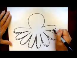Small Picture How to Draw a Cartoon Octopus Beginners Tutorial YouTube