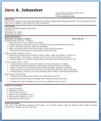 Babysitter Resume Sample Template Delectable Baby Sitter Resume Babysitting Bio Resume Sample Make Resume For