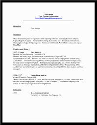 Skill Resume 48 Data Analyst Resume 2016 Entry Level Data Analyst