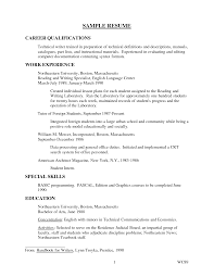 Qualifications On Resume Sample Examples Contemporary Art Websites