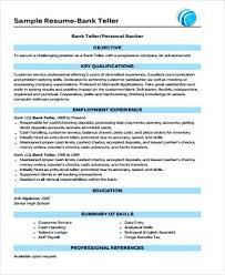 sample resume for bank jobs for freshers sample bank teller resume sample  resume bank job fresher