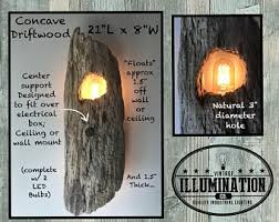 driftwood lighting. Driftwood Lighting: Floating, Concave Wall Or Ceiling 2-Light Fixture, 21\ Lighting
